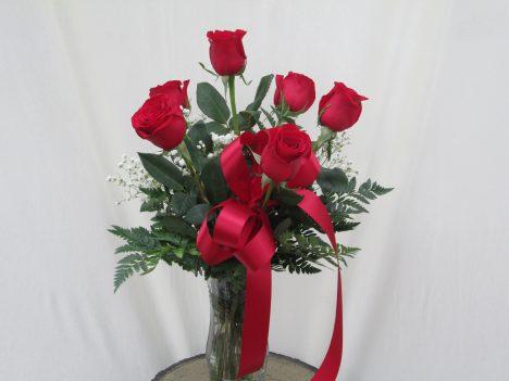 Half Dz. Roses Vased